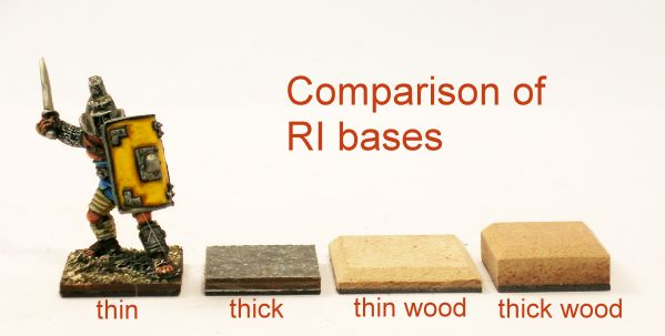 Comparison of different base thicknesses