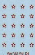 5 point stars. Oval shield. (20)